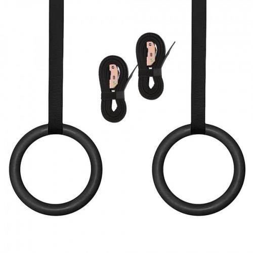 Pro Gymnastic Rings ABS Plastic - Black