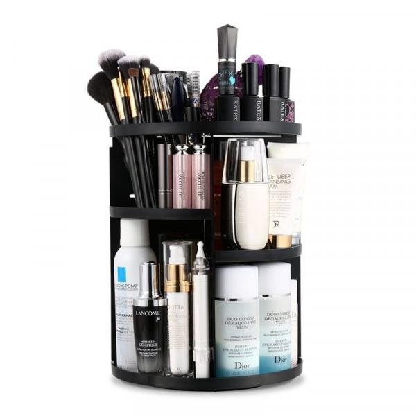 Avery® 360º Roterende Kosmetik Organizer - Sort