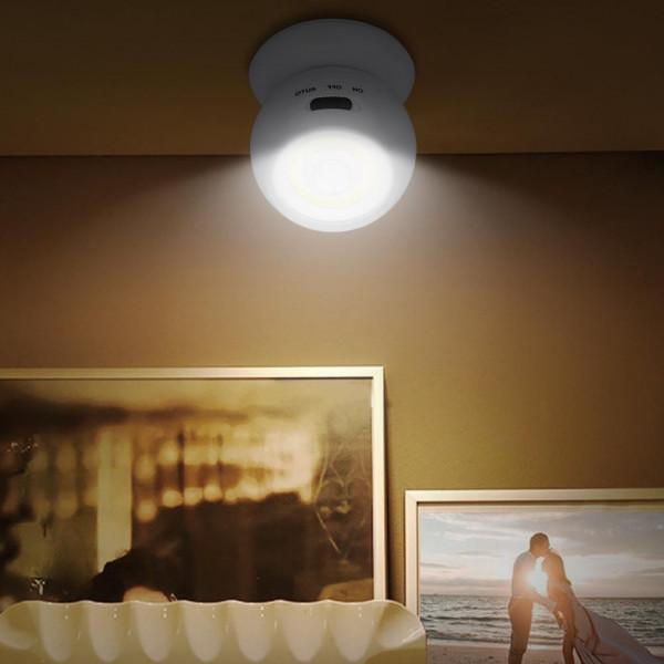 LED lampe med bevægelsessensor Sensor Light, Batteridrevet, Hvid