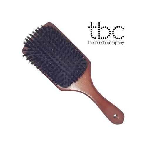 TBC® Boar Bristle Paddle Brush - Vildsvinehår