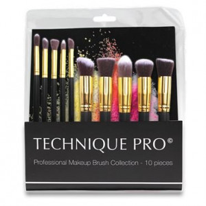 Technique PRO® 10 stk. Makeupbørster - Gold Edition