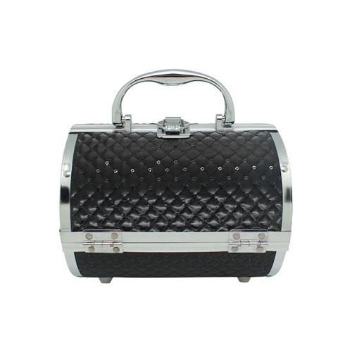 AVERY® Makeup Taske / Smykkeskrin Aluminium - Sort