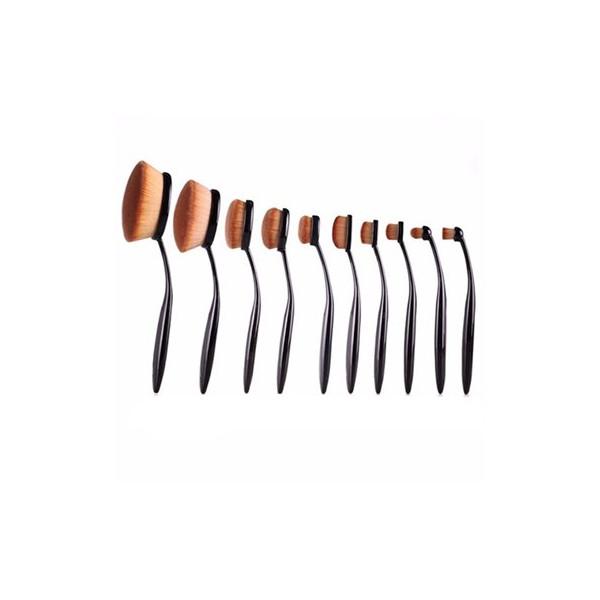 Mermaid® Ovale Makeupbørster - 10 stk.