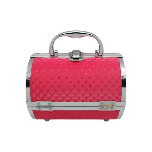 AVERY® Makeup Taske / Smykkeskrin Aluminium - Pink