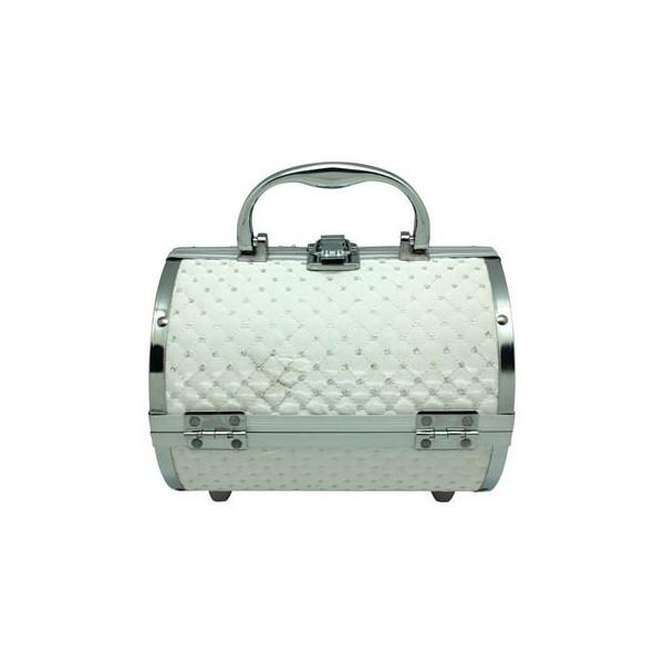 AVERY® Makeup Taske / Smykkeskrin Aluminium - Hvid