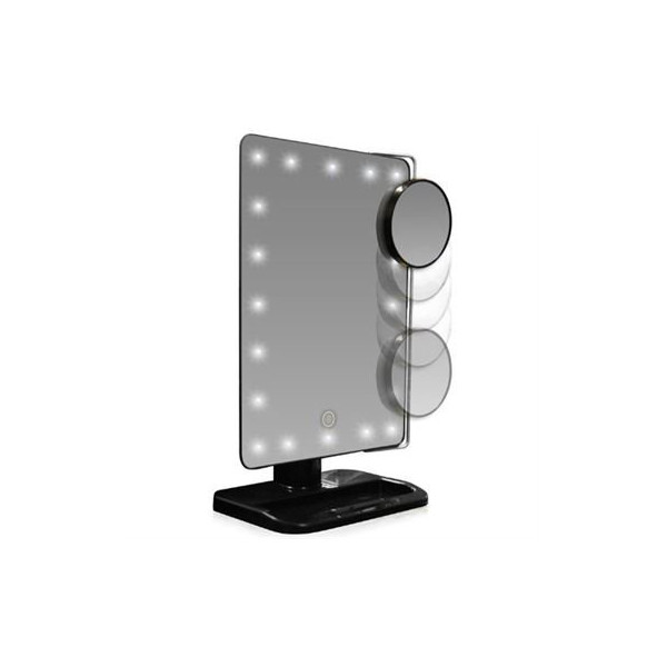 UNIQ LED Makeup Spejl - Sort