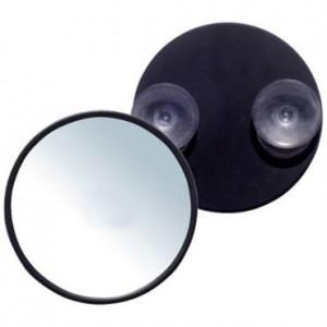 UNIQ Mini Spejl 10X forstørrelse + sugekop - Sort