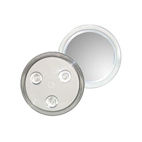 UNIQ Mini Spejl 10X forstørrelse + sugekop - Hvid