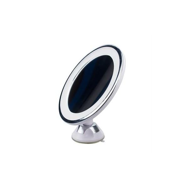 UNIQ Rund Sugekop Spejl LED Lys + 10x forstørrelsesspejl - Hvid