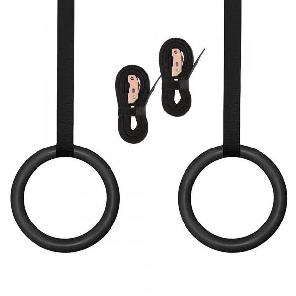 PRO Gymnastikringe 28 mm ABS Plast - Sort