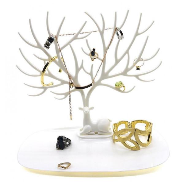 Smykketræ Hjort - Hvid