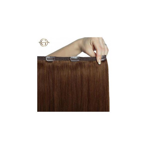Gold24 Clip-on Hair Extensions 6 Lysbrun 60cm - 7 sæt