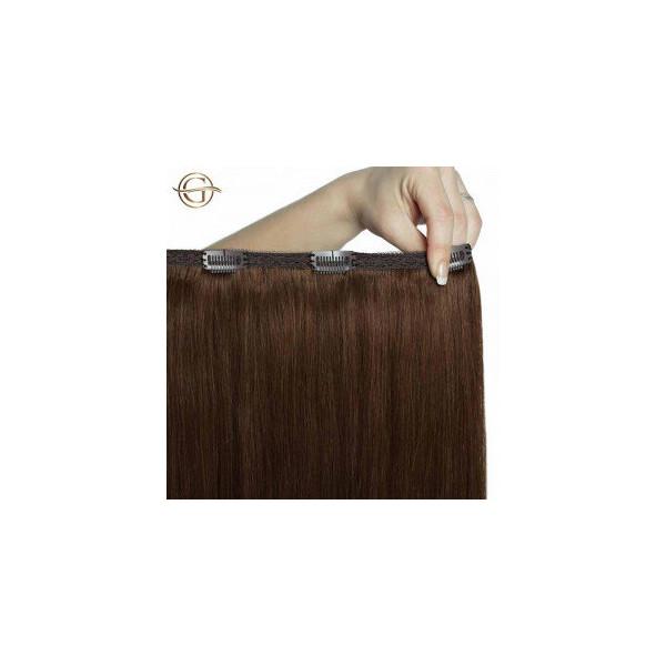 Gold24 Clip-on Hair Extensions 12 Lysebrun 50cm - 7 dele
