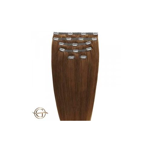 Gold24 Clip-on Hair Extensions 12 Lysebrun 60cm - 7 dele