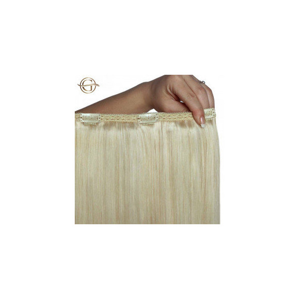 GOLD24 Clip-on Hair Extensions 613 Blond 60cm - 7 dele