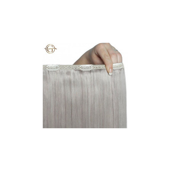 GOLD24 Clip-on Hair Extensions 88A Grå 50cm - 7 dele