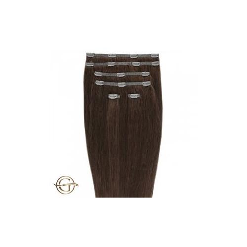 Gold24 Clip-on Hair Extensions 33 Rødbrun 50cm - 7 dele