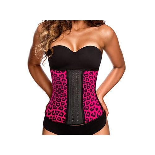 AVA® Latex Waist Trainer Pink Leopard
