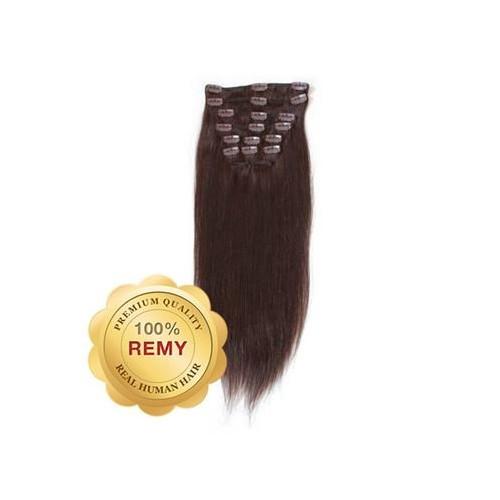 Remy Clip-on Extensions 2 Mørkebrun 40 cm