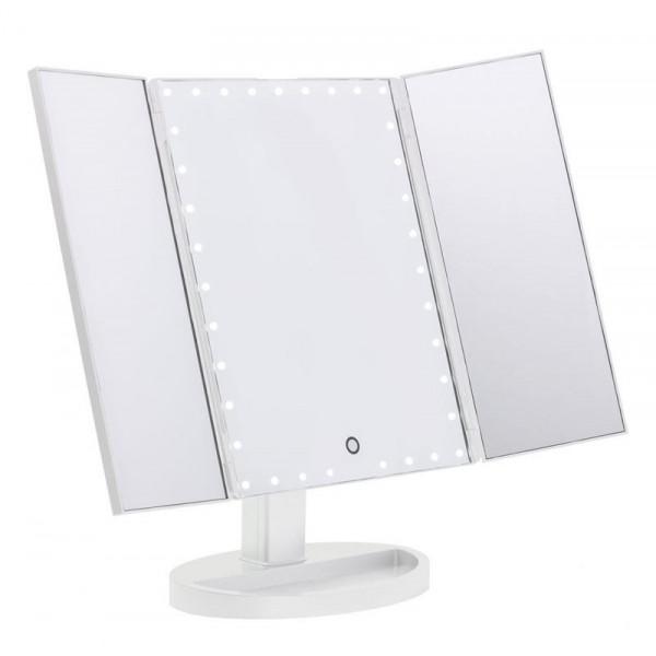 UNIQ® Trifold Hollywood Makeup Spejl Med LED Lys - Hvid