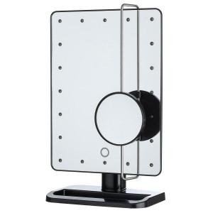 UNIQ® Hollywood Spejl Med LED Lys + Lille Spejl Med 10 x