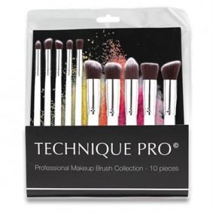 Technique PRO® Silver Edition Makeupbørster - 10 stk.