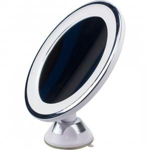 UNIQ Rundt Spejl med LED Lys og sugekop x10 forstørrelsesspejl