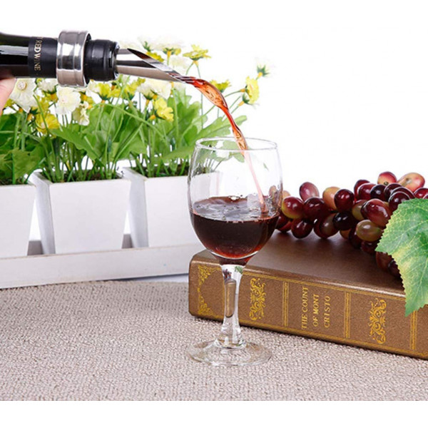 Deluxe Vin sæt i 5 dele - Luksus Gaveæske i træ