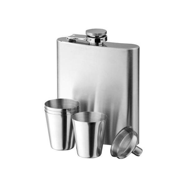 Deluxe Lommelærke m/ 2 glas og tragt - leveres i gaveæske