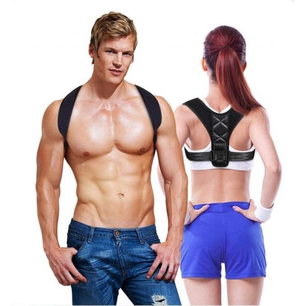 Posture 2.0 Holdningskorrigerende vest | støtte til ryg & skuldre | sort