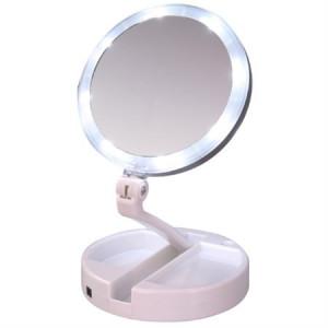 My fold away makeup spejl m. Lys - Foldbart og 10 x forstørrelse