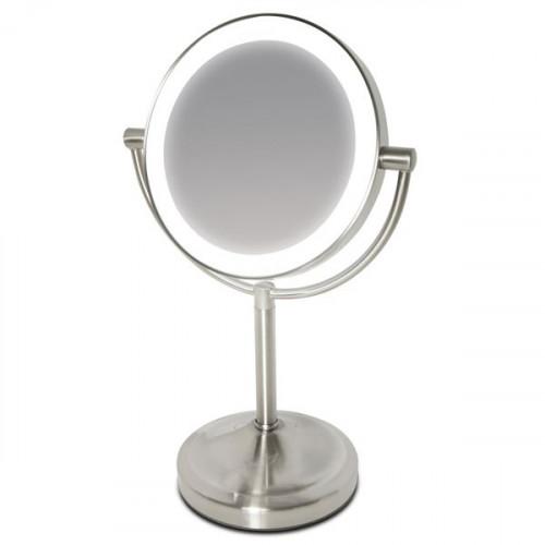 UNIQ Spejl med LED Lys & 5x forstørrelse på fod - large