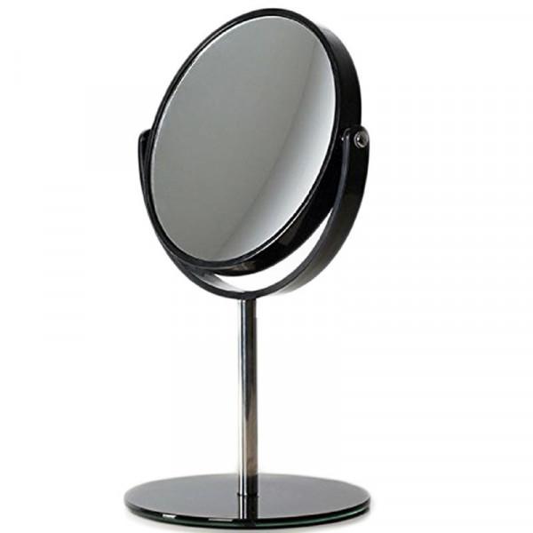 Vippe Makeup Spejl på fod, 5x forstørrelse - sort