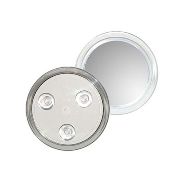 Makeup spejl 10X forstørrelse med sugekop, UNIQ - hvid