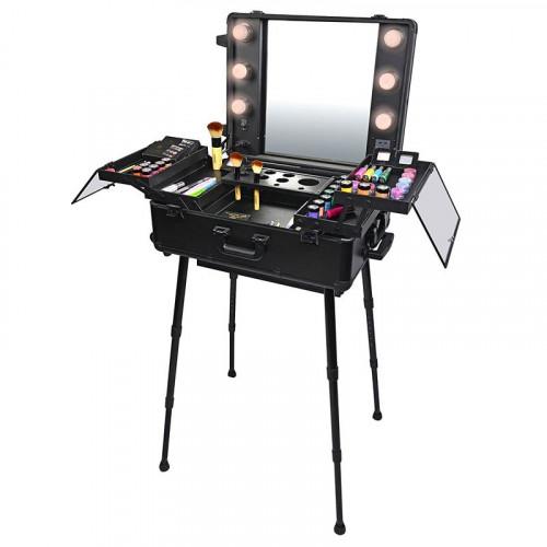 Pro Studio2Go - Makeup bord med Hollywood LED spejl og