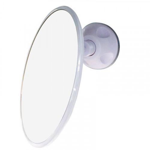 Badeværelses Spejl med sugekop x10 forstørrelse, UNIQ - hvid