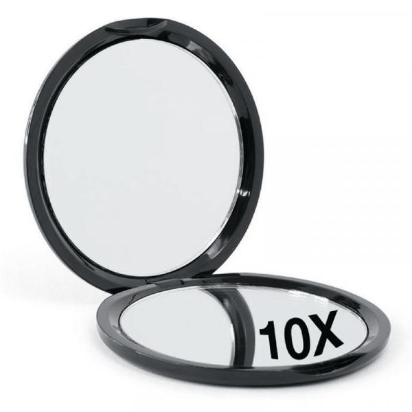 Kompakt Rundt Spejl med 10 x forstørrelse