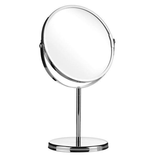 Vippe Makeup Spejl på fod, 5x forstørrelse - krom