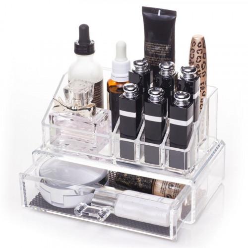 AVERY Akryl Organizer med 1 skuffe + top til smykker / makeup