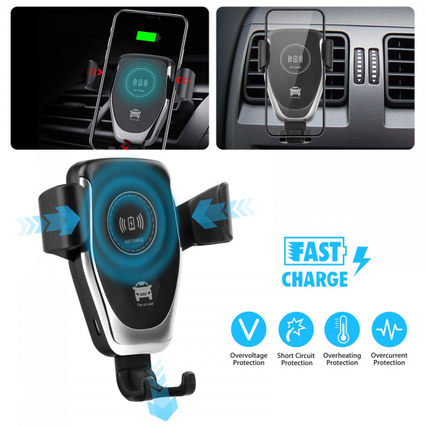 Trådløs telefon oplader til bil - Fast wireless charger