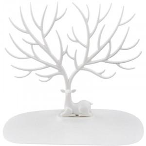 Oh my deer smykketræ med hjort - hvid