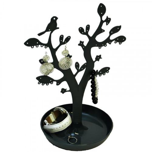 VITU Smykketræ med blade - Sort (CTN005)