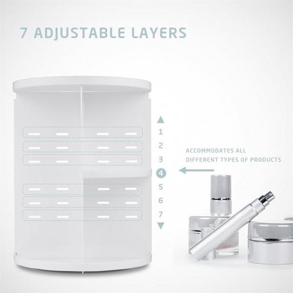 AVERY 360º Rotating Cosmetic Organizer, Hvid