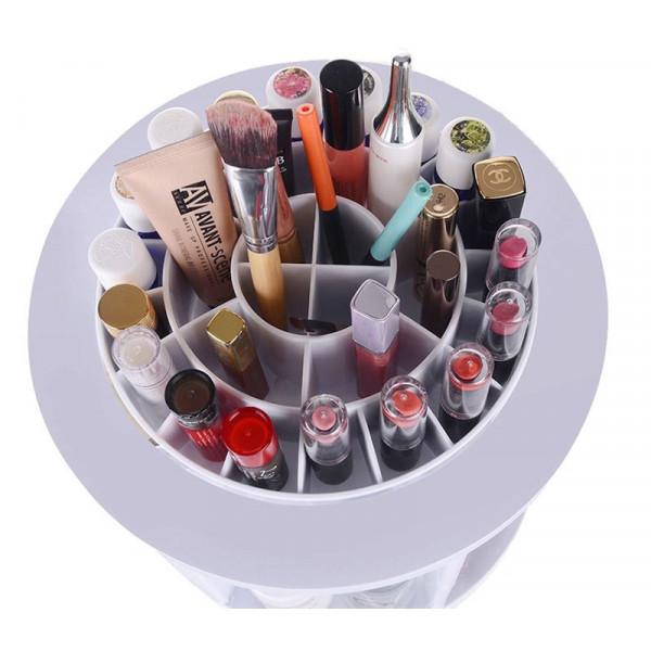 AVERY XL 360º Rotating Makeup Organizer XL - Hvid
