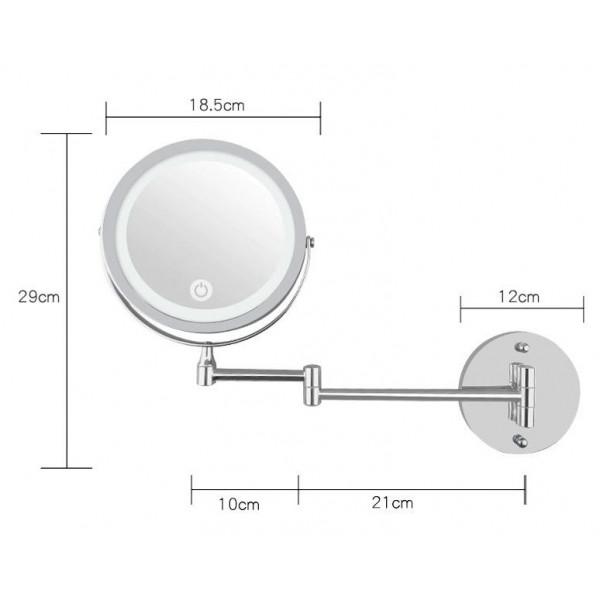 LED vægmonteret LED kosmetikspejl m/ leddelt arm - UNIQ