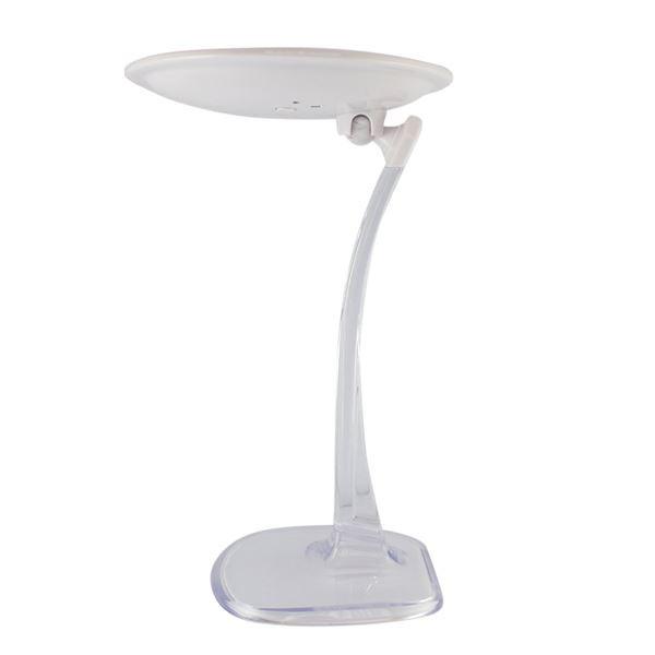 UNIQ genopladelig LED makeup spejl med 10x forstørrelse - Hvid