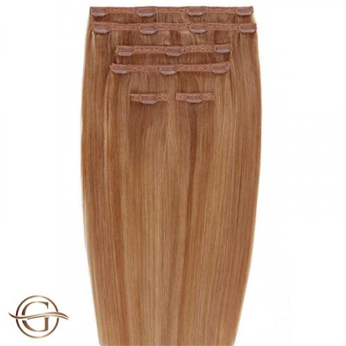 Clip-on Hair Extensions no.30 Kastanie - 7 sæt - 60 cm | Gold24