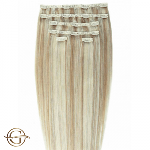 Clip-on Hair Extensions no.88 Blond - 7 sæt - 50 cm   Gold24