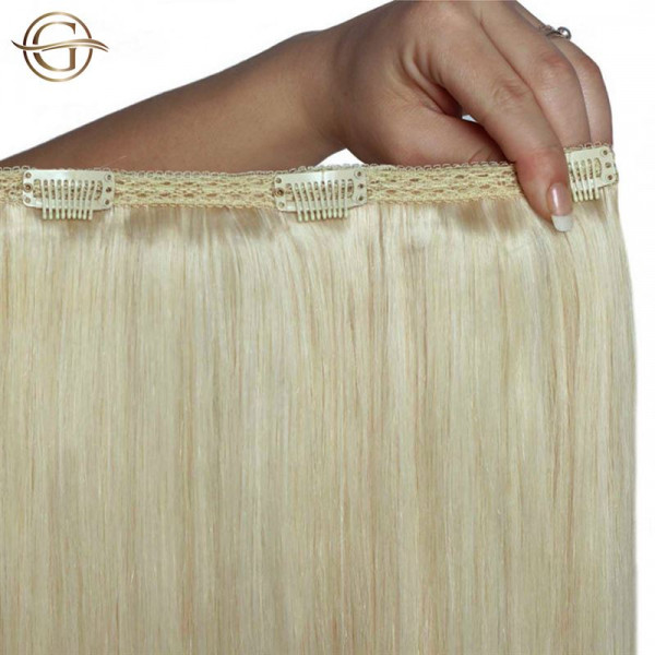 Clip-on Hair Extensions no.613 Blond - 7 sæt - 60 cm | Gold24