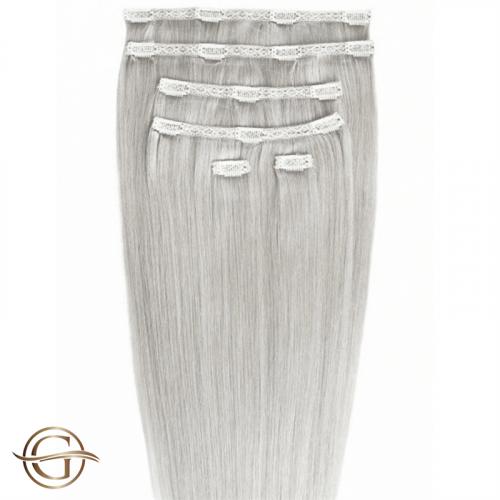 Clip-on Hair Extensions no.88A Grå - 7 sæt - 60 cm | Gold24